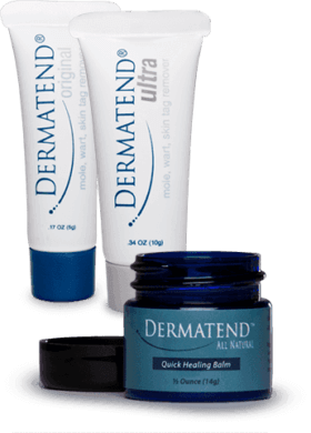 DermaTend packaging tube and jar