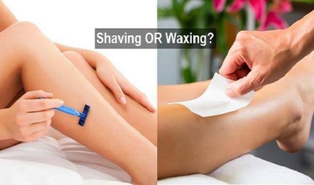 Shaving or waxing